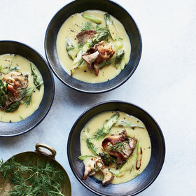 Food & Wine: Lemony Roasted Asparagus Soup