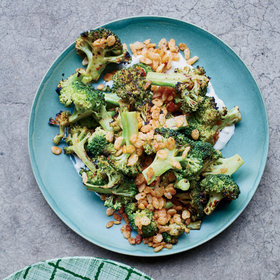 Food & Wine: Charred Broccoli with Blue Cheese Dressing and Spiced Crispies