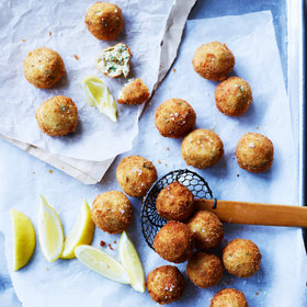 Food & Wine: Fried Italian Turkey-and-Cheese Meatballs