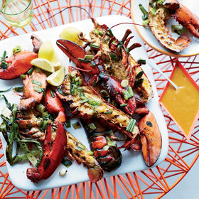 Food & Wine: Grilled Lobsters with Miso-Chile Butter
