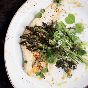mkgalleryamp; Wine: Grilled Asparagus with Taramasalata