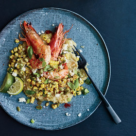 Food & Wine: White Quinoa Grits with Shrimp and Mexican Grilled Corn