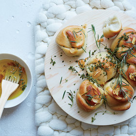 Food & Wine: Garlic Knots with Frizzled Herbs