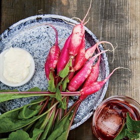 Food & Wine: Mixed Radishes with Yogurt Butter
