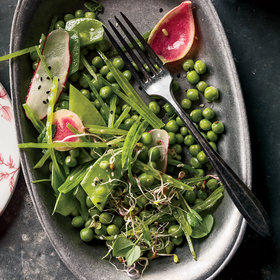 mkgalleryamp; Wine: Snow Pea Salad
