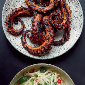 Food & Wine: Grilled Octopus with Ancho Chile Sauce