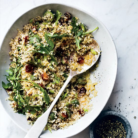 Food & Wine: Quinoa Pilaf with Dates, Olives and Arugula