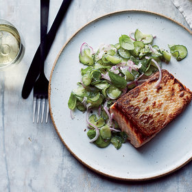 Food & Wine: Seared Salmon with Anise-Cucumber Salad