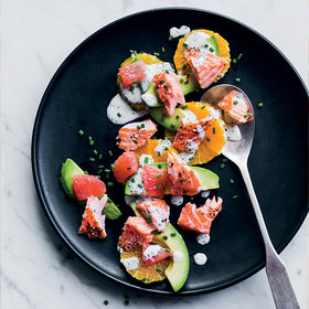 Food & Wine: Salmon-and-Citrus Salad with Poppy Seed Dressing