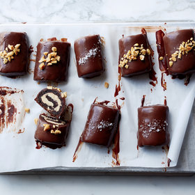 Food & Wine: Chocolate-Peanut Butter Swiss Rolls