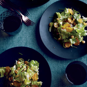 Food & Wine: Escarole and Golden Beet Salad with Toasted Hazelnuts