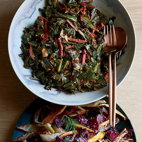 Food & Wine: Sautéed Collard Greens with Pepperoni