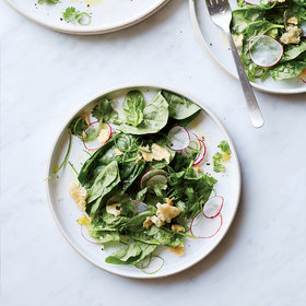 Food & Wine: Spinach Salad with Pork Rinds