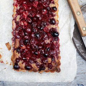 Food & Wine: Cranberry-Walnut Tart with Buckwheat Crust