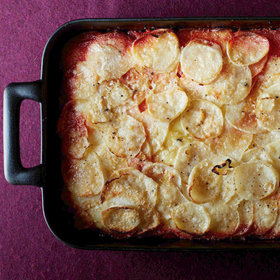 Food & Wine: Ombré Potato and Root Vegetable Gratin