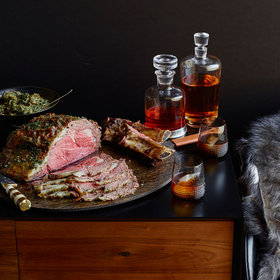 Food & Wine: Roasted Dry-Aged Rib of Beef with Creamed Greens