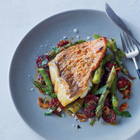 Food & Wine: Red Snapper With Asparagus And Chorizo