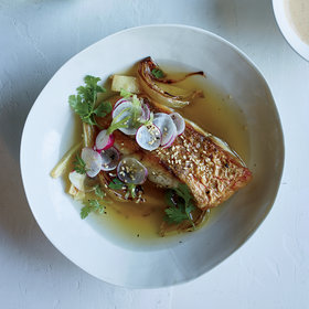 Food & Wine: Red Snapper with Korean Miso Vinaigrette