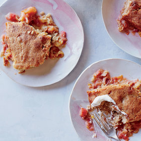 Food & Wine: Rhubarb Pudding Cake