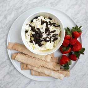 Food & Wine: Ricotta Spread with Olive Oil and Dark Chocolate