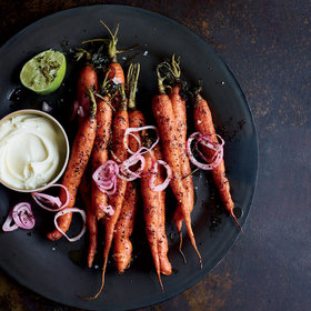 Food & Wine: Roasted Carrots with Lebneh, Urfa, Pickled Shallots and Lime