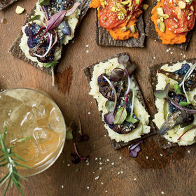 Food & Wine: Roasted Cauliflower Flatbreads with Celery Root Puree