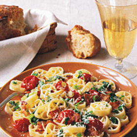 Food & Wine: Rotelle with Bacon, Watercress, and Cherry Tomatoes