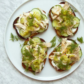 Food & Wine: Rye Tartines with Chicken 