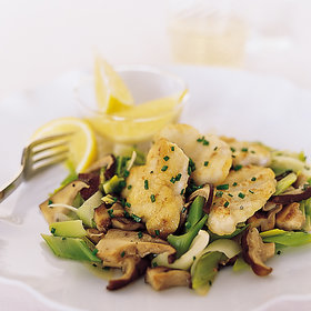 Food & Wine: Sautéed Monkfish with Leeks and Shiitakes