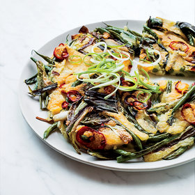 Food & Wine: Green Bean and Scallion Pancake