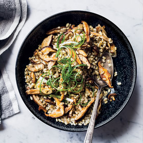 Food & Wine: Warm Shiitake-Barley Salad