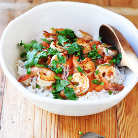 Food & Wine: Shrimp with Coconut-Curry Tomato Sauce