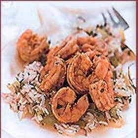 mkgalleryamp; Wine: Rice Salad with Paprika Shrimp