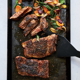 Food & Wine: Skirt Steak Sizzle with Carrots and Arugula
