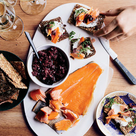 Food & Wine: Smoked-Trout Crackers with Broken Tapenade