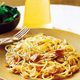 Food & Wine: Spaghetti with Mackerel and Pine Nuts