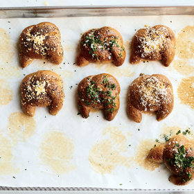 Food & Wine: Everything Spelt Garlic Knots