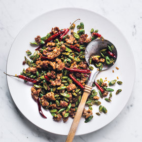 mkgalleryamp; Wine: Sichuan-Style Green Beans with Pork