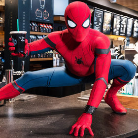 Food & Wine: Watch Spider-Man Prank Starbucks Customers by 'Dropping in' for a Cold Brew