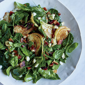 Food & Wine: Spinach and Fennel Salad with Candied Bacon