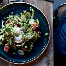 Food & Wine: Spring Vegetable and Sunflower Panzanella