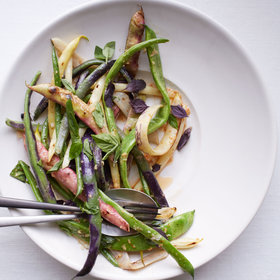 mkgalleryamp; Wine: Summer Bean Salad with Roasted Garlic Vinaigrette