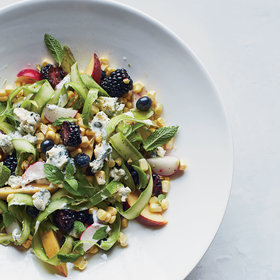 mkgalleryamp; Wine: Sweet and Savory Summer Fruit Salad with Blue Cheese
