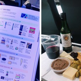 mkgalleryamp; Wine: One JetBlue Passenger Created the Most Over-the-top Cheese Plate Using Only Airplane Snacks