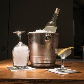 mkgalleryamp; Wine: How to Make a Giant Bottled Martini for Your Holiday Party