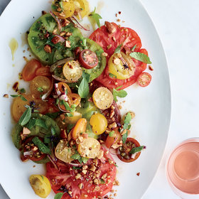 Food & Wine: Tomatoes with Herbs and Almond Vinaigrette