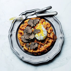 mkgalleryamp; Wine: Tater Tot Waffles with Truffled Eggs