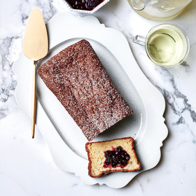 Food & Wine: Vanilla Sponge Cake with Blackberry-Tarragon Jam