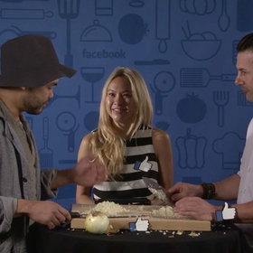 Food & Wine: Chefs Johnny Iuzzini and Paul Qui Take a Facebook Onion Challenge
