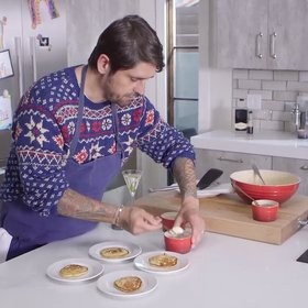 Food & Wine: Ludo Lefebvre Celebrates Christmas With Blinis Caviar and Grey Goose Martinis